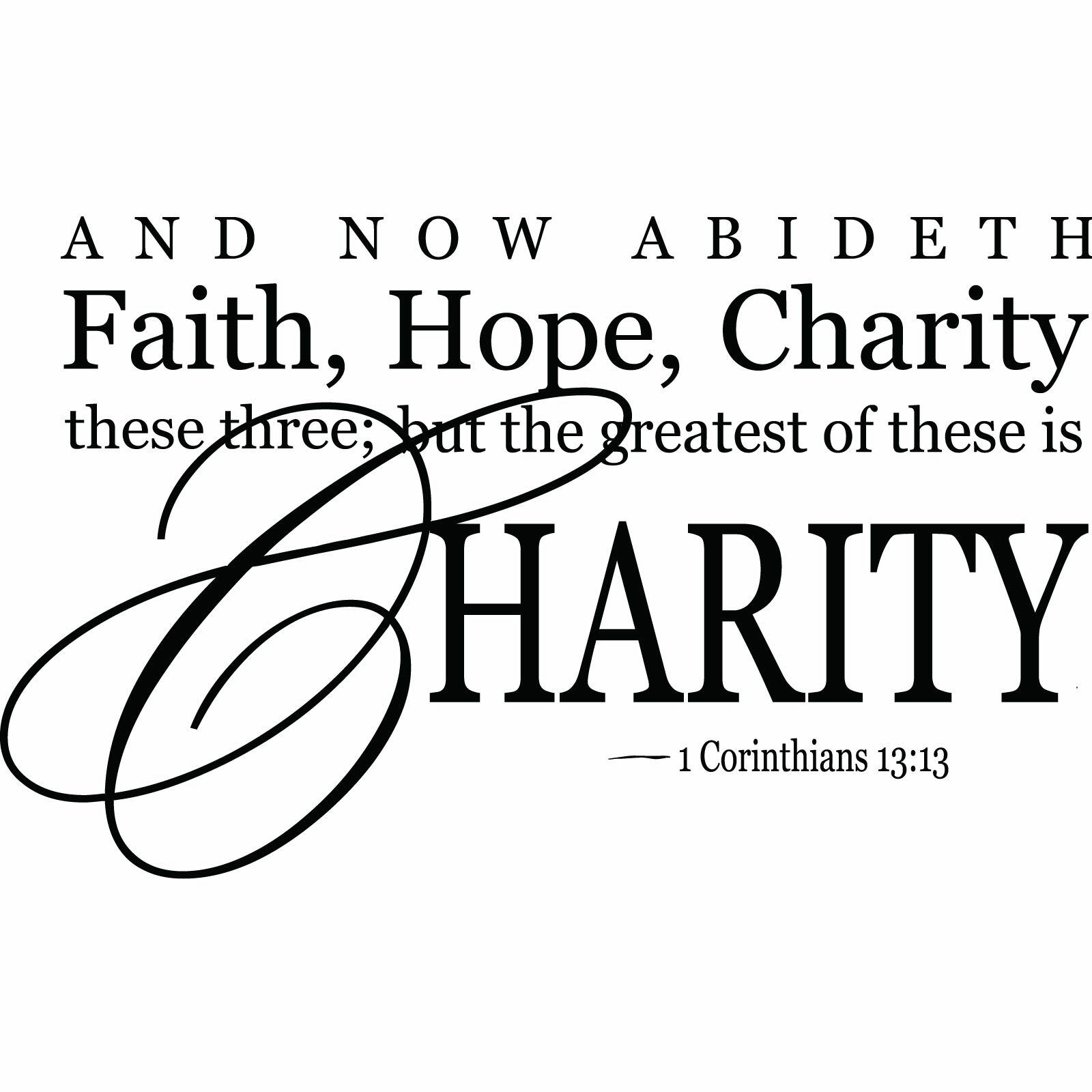 Faith Hope Charity~Fashion and More