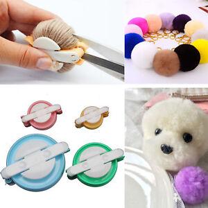 4 Size Pom pom Maker Fluff Ball Weaver Knitting Needle DIY Tool Kit Bobble Craft