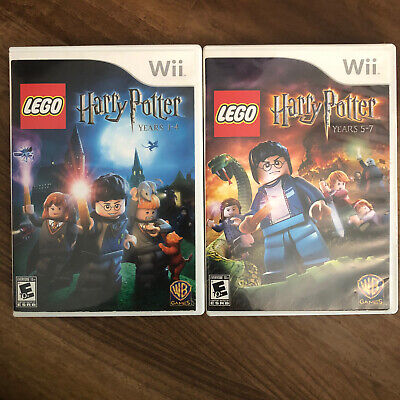 LEGO Harry Potter: Years 1-4 + 5-7 Bundle Nintendo Wii Tested Complete