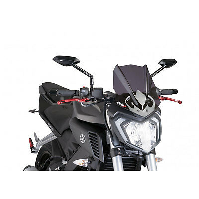 <em>YAMAHA</em> MT 125 2014 2020 PUIG MOTORCYCLE WINDSHIELD SPORT SCREEN DARK T