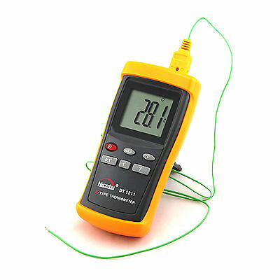 Digital Industrial K-type Thermocouple Thermometer W Wire Probe Sensor Dt1311