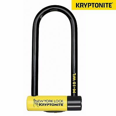 Kryptonite New York M18 Bike Bicycle Scooter D U Key Lock Sold Secure Gold 18mm