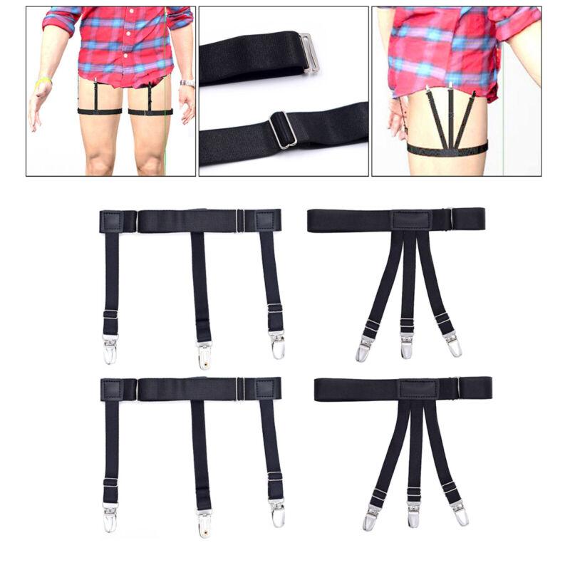 1pair Shirt Stays Leg Garters Business Elasticity Suspenders Mens Nylon