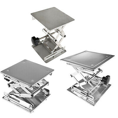 Stainless Steel Lab Stand Table Scissor Lift Laboratory Jack 100 150 200mm