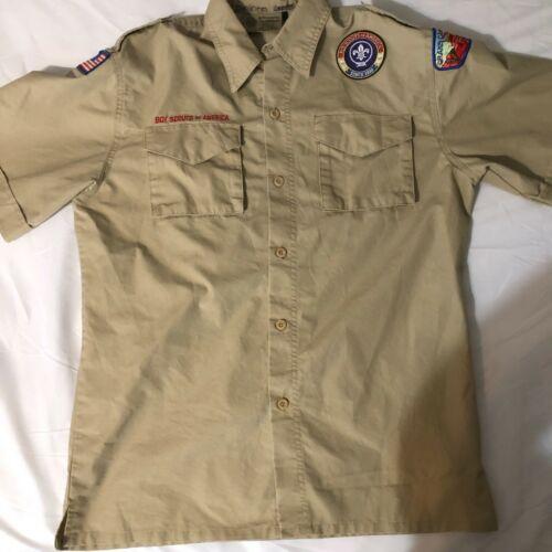 Official BSA Boy Scout tan uniform shirt  Y X Large Grand Canyon Cncl new style