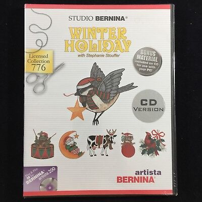 Studio Bernina #776 Winter Holiday Embroidery Designs CD for Bernina Artista 200 ()