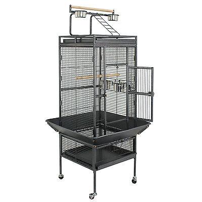 "Bird Cage 61"" play top Parrot Cockatiel Cockatoo Parakeet Finch Pet Supply Gym"