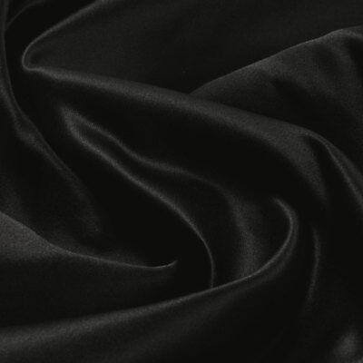 n schwarz blickdicht glänzend glatt (Polyester Satin)