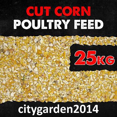 25kg Cut Corn - Maize - Chicken - Hen - Food - Feed - Broken Maize - Fishing