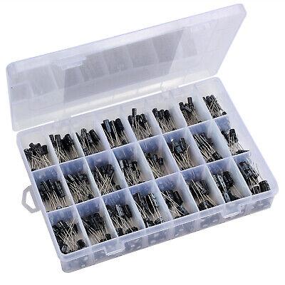 500 Pcs Electrolytic Capacitor Assortment Kit Box Set 0.1uf-1000uf 24 Values New