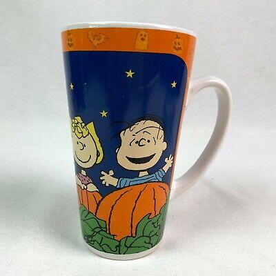 Peanuts Great Pumpkin Mug Snoopy Charlie Brown Linus Sally Tall Ceramic Gibson