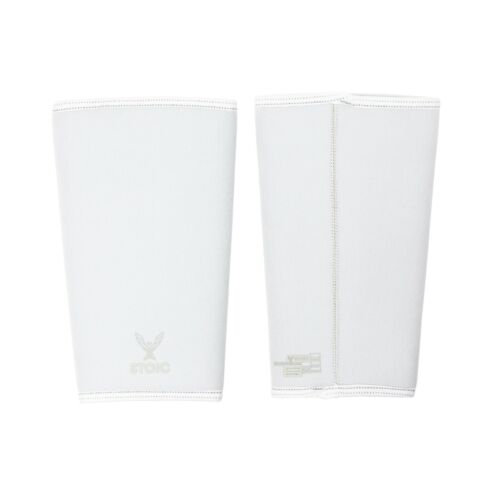Stoic 7MM Knee Sleeves for Powerlifting, Weight Lifting (WHITE)