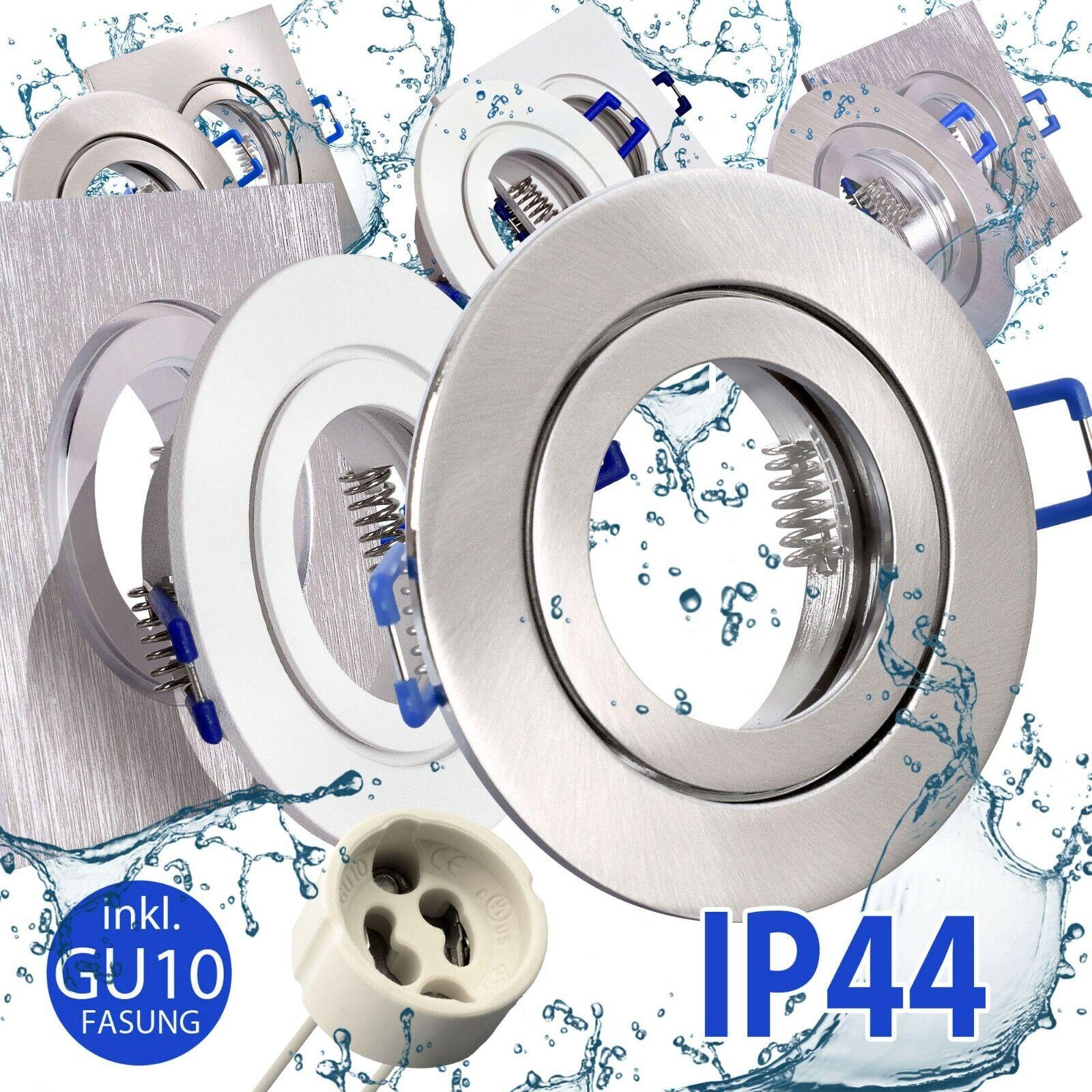 Bad Feuchtraum Einbaustrahler Einbauspot GU10 LED Deckenstrahler IP44 Spot