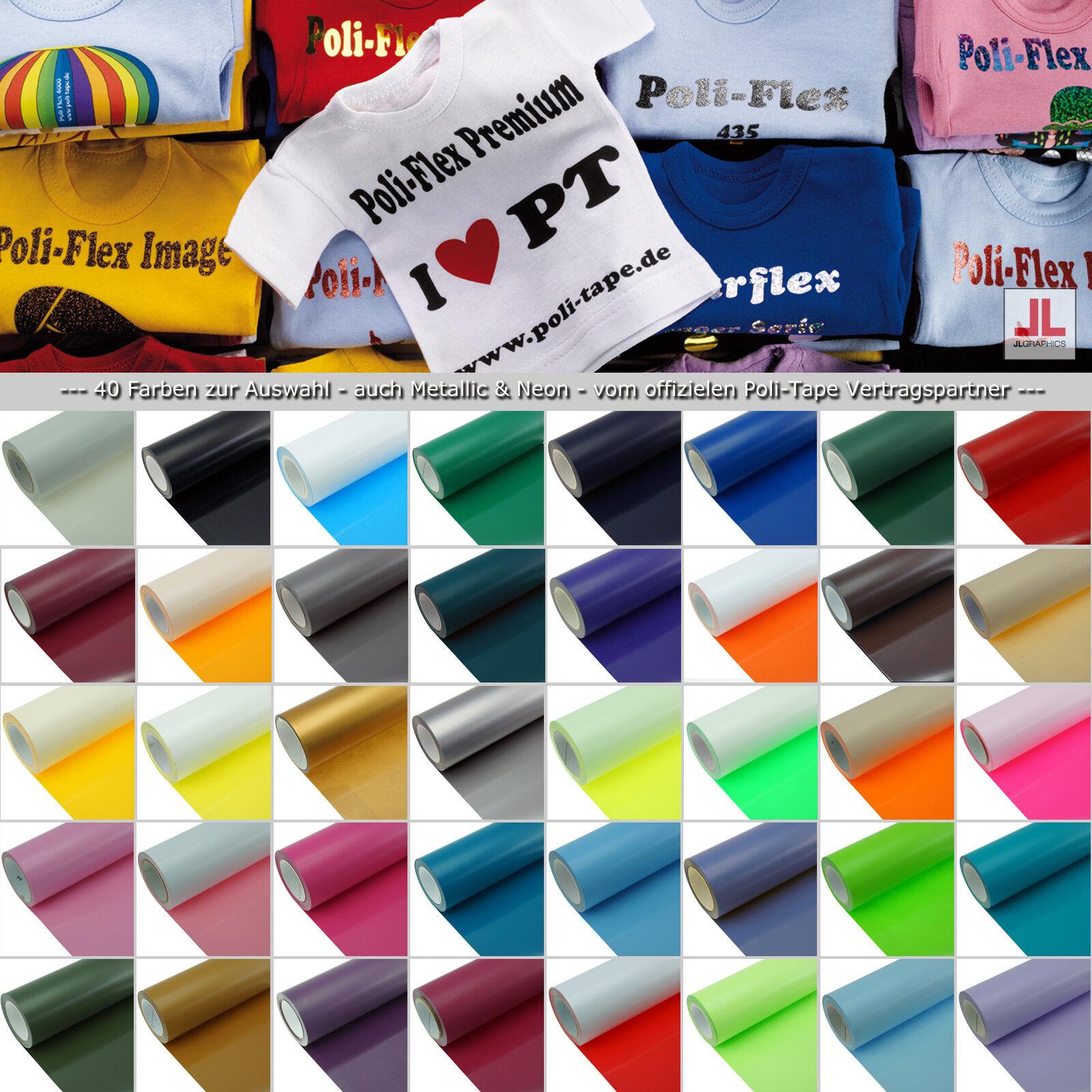 POLI-FLEX Premium Flexfolie mit Farbauswahl 50 cm x 1 m  meterweise/BLITZVERSAND