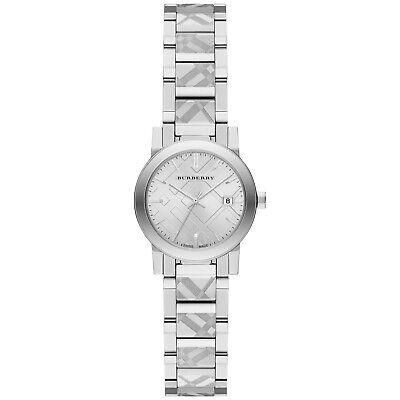 Nuevo Burberry BU9233 Mujer Grabado Cuadros Reloj - 2 Años Garantia