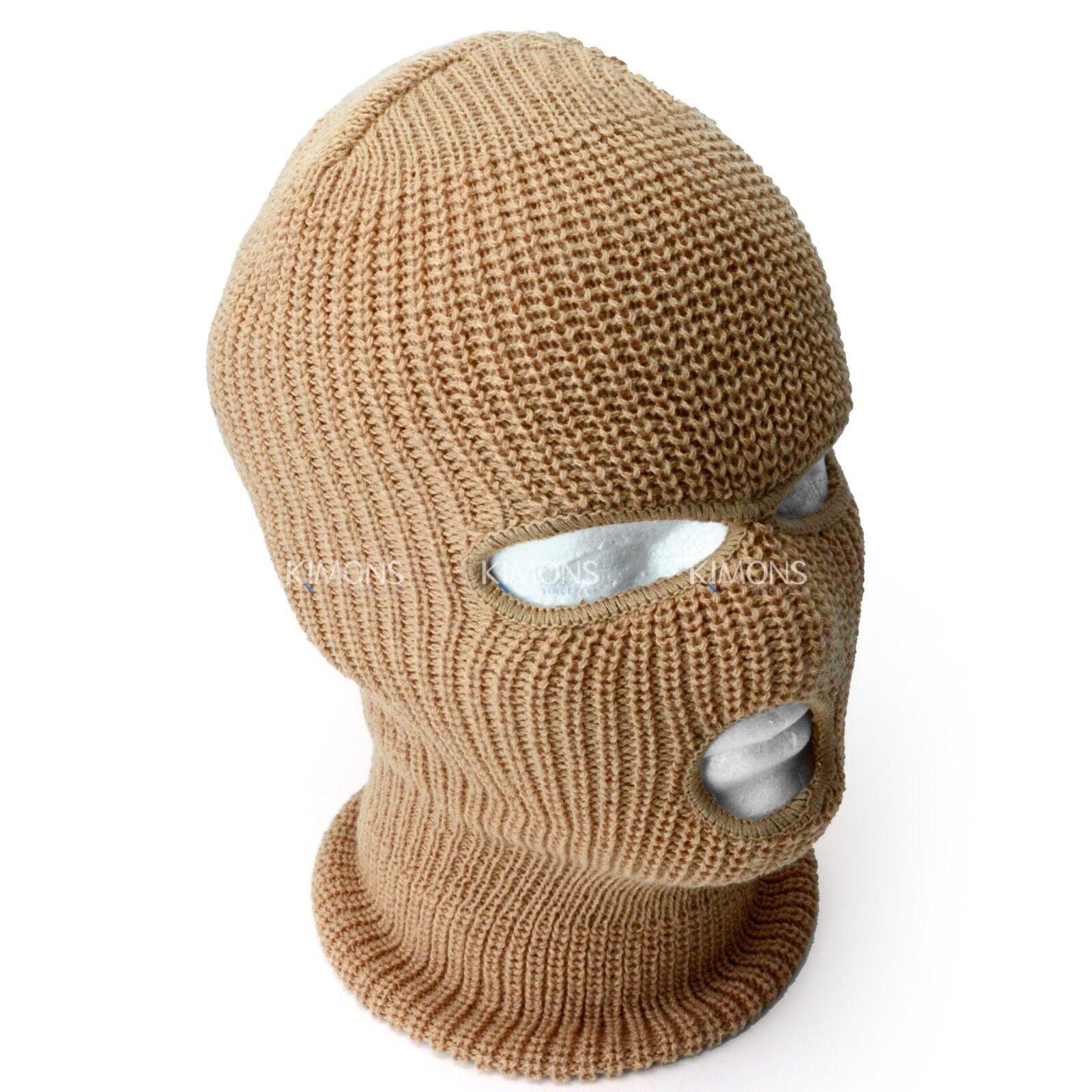 a4dd3a62506 3 Hole Ski Mask Full Face Winter Cap Balaclava Hood Army Tactical Mask