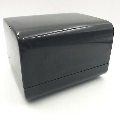 Vintage Eldon Office Products Business Card Address File Black 1983