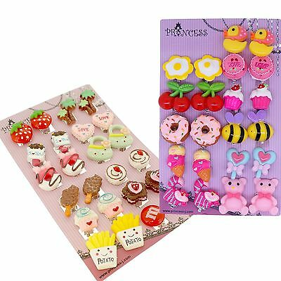 (Princess-J Cartoon Cute Design Snake Clip-On Earrings for Kids Teen Girls Womens)