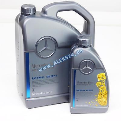 6L Orig. Mercedes Synthetic Motoröl Ölservice 5W40 MB 229.5 A00098983701 6 Liter