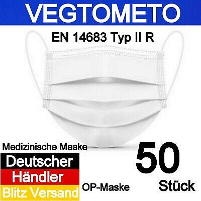 50x Medizinische Mundschutz Maske Type 2R Chirurgische Atemschutzmaske OP-Weiß