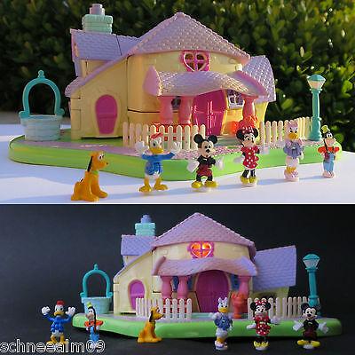 Mini Polly Pocket Disney Minnie Surprise Light-up Party Haus Licht 6 Figuren