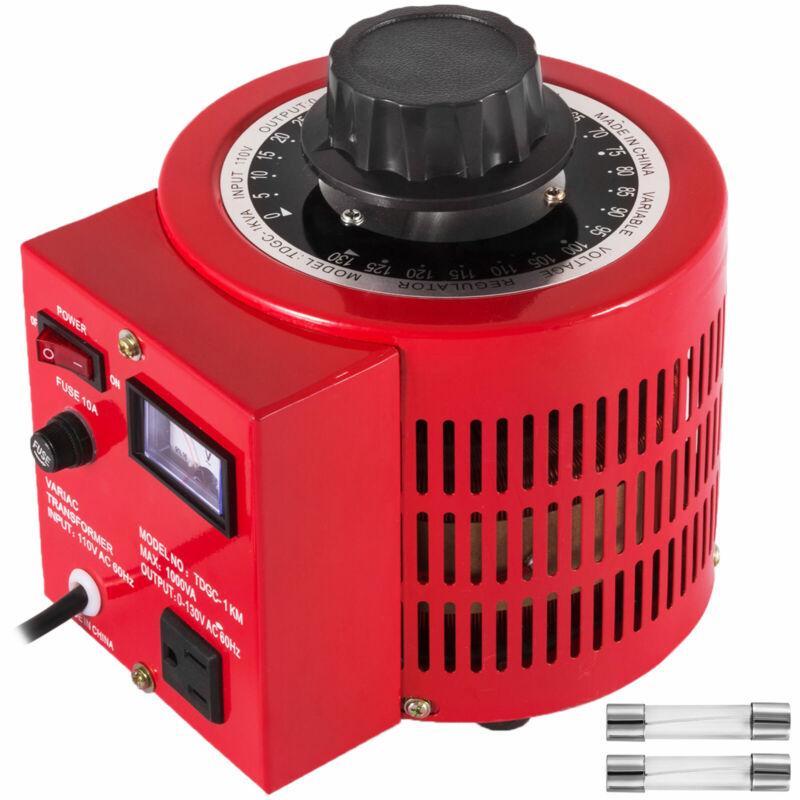 Variac Transformer Variable 1000VA AC Voltage Regulator 10Amp 0~130V US Plug