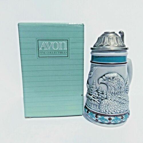 Avon 1990 Endangered Species The Bald Eagle Mini Stein #07258 With Box