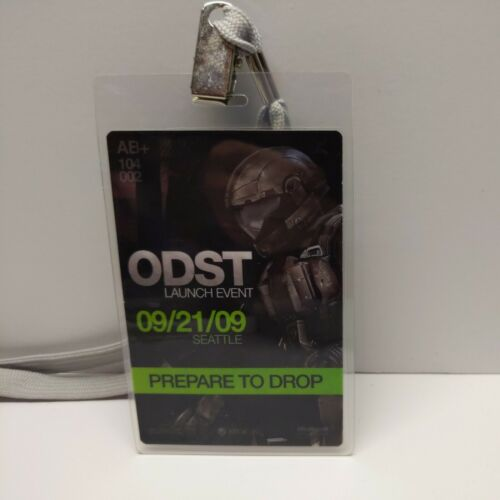 2009 Microsoft Xbox Halo ODST Lanyard Launch Event Badge VERY RARE Look  - $139.95
