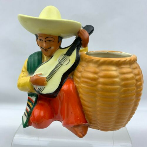 Mexican Guitar Player Planter - Made in Japan