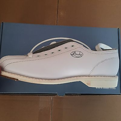 Linds Men's Championship White Left Handed Bowling Shoes Size 5 In Box