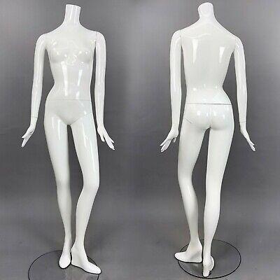 Patina V Mannequin White Gloss Full Size Female Headless Modern Image Im22a