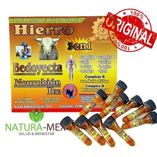 NEUROBION B12 BEDOYECTA HIERRO Reinforced 10 Bottles 15 ml Complex B Exp 12/2024