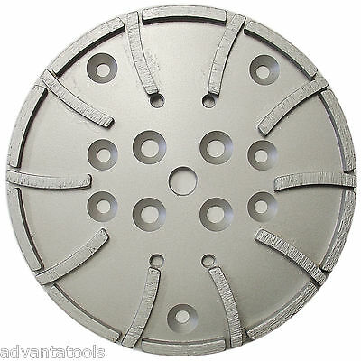 10 Concrete Grinding Head For Edco Blastrac Grinders - 20 Seg 5060 Grit