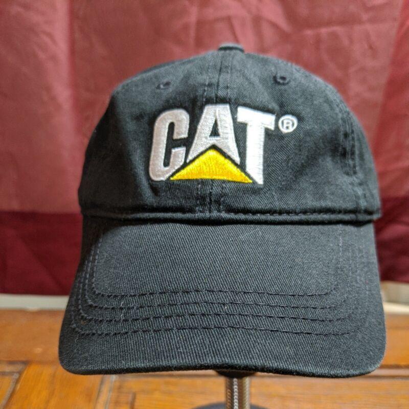 Caterpillar Ball Cap Hat black Cat logo fabric strap w/ buckle closure Toddler