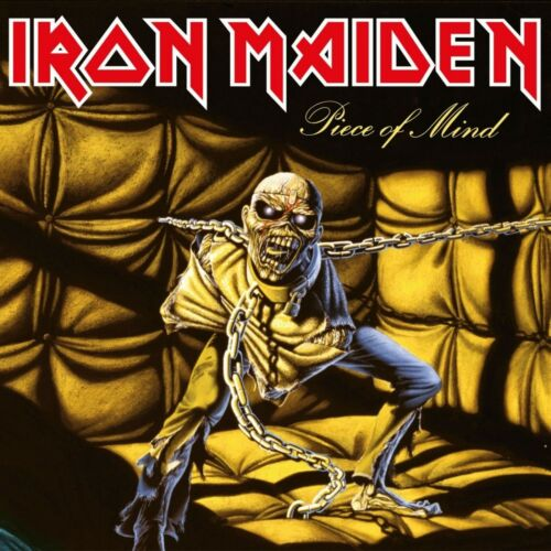IRON MAIDEN Piece of Mind BANNER HUGE 4X4 Ft Tapestry Fabric Poster album art cd