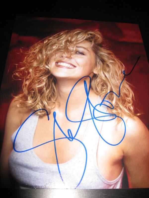 SHARON STONE SIGNED AUTOGRAPH 8x10 PHOTO BASIC INSTINCT BABE HOT SEXY COA G