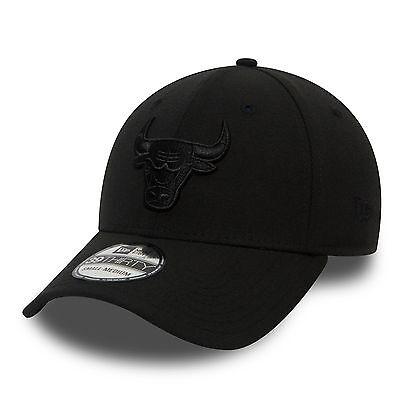ketball Cap NBA Chicago Bulls Black on Black BOB Mütze TOP (Basketball-cap)