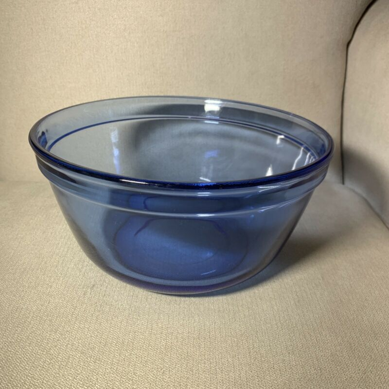 Anchor Ovenware Cobalt Blue Glass Mixing Nesting Bowl 2.5 Quart #1058
