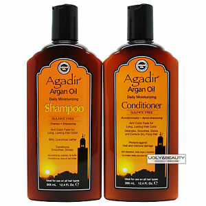 Agadir Argan Oil Daily Moisturizing Shampoo & Conditioner 12.4 Fl. Oz. / 366 ml