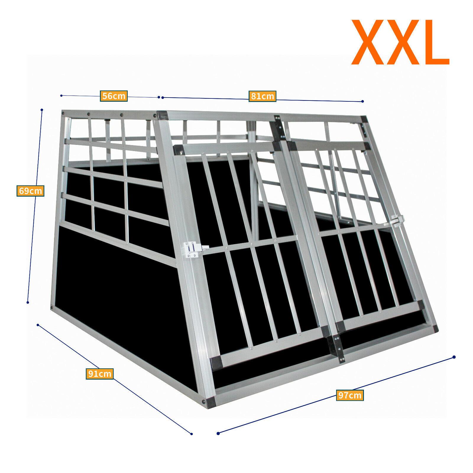 Aluminium ALU Hundetransportbox Hunde transportbox Autotransportbox Neu