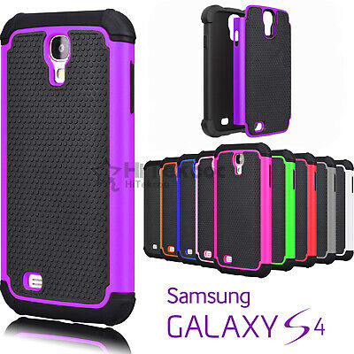 For Samsung Galaxy S4 Shockproof Hybrid Rugged Rubber Hard Shell Case Cover Skin
