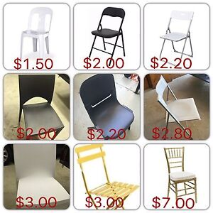 Chair hire - lowest price Mount Waverley Monash Area Preview