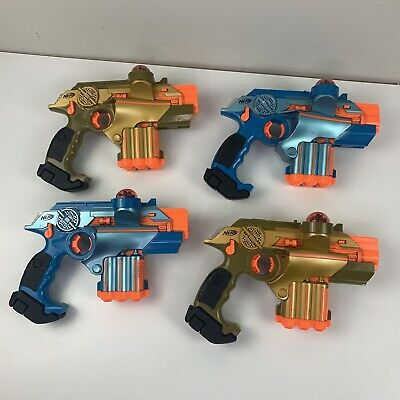 Lot of 4 Nerf Tiger Electronics Lazer Tag Phoenix LTX Laser Guns Tested Working