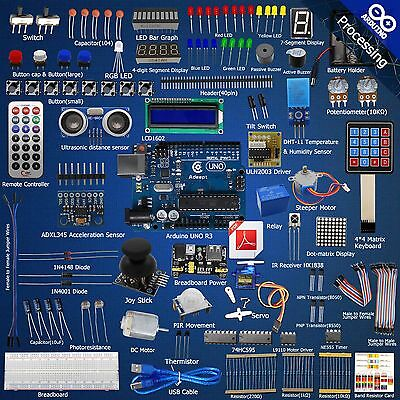 Adeept Ultimate Starter learning Kit for Arduino UNO R3 LCD1602 Servo processing