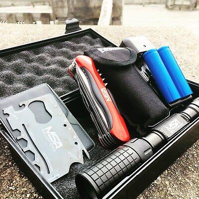 Best Hike Fishing Kit pocket knife folding Multitool Flashlight Survival (Best Survival Knife Kit)