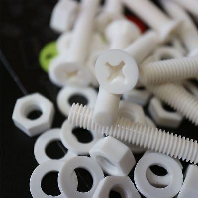 20 x avellanados Blancos (PP), Tornillos y Tuercas de Plástico, M6 x...