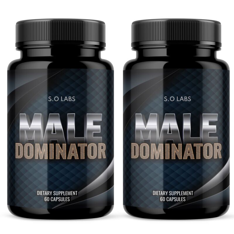 MALE DOMINATOR Male Enhancement Support All Natural Increase Stamina - 2 Pack
