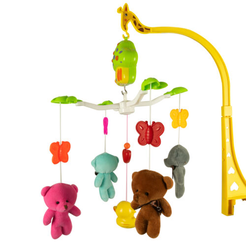 Baby Crib Mobile Musical Lullaby Teddy Bear