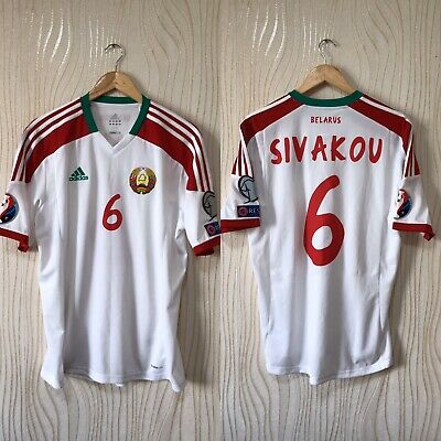 BELARUS 2014 2016 HOME FOOTBALL SHIRT JERSEY ADIDAS MATCH VERSION #6 SIVAKOV image
