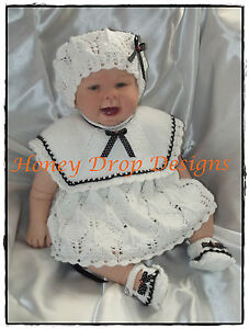 Honeydropdesigns * Little Sailor Girl * PAPER KNITTING PATTERN * Reborn/Baby